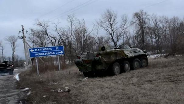 """Терористи обстріляли позиції """"Азову"""" біля Широкиного"""