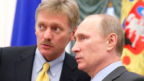Дмитро Пєсков та Володимир Путін