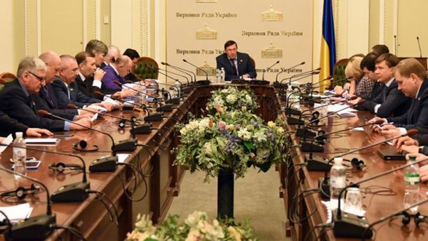 Совет фракции БПП во время заседания