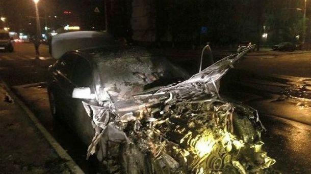 Бланку спалили авто