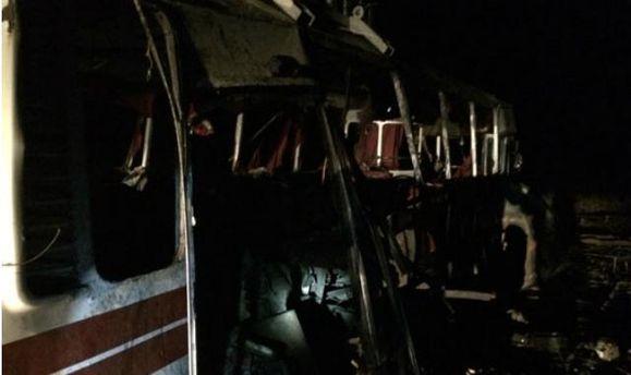 Вибух автобуса під Артемівськом