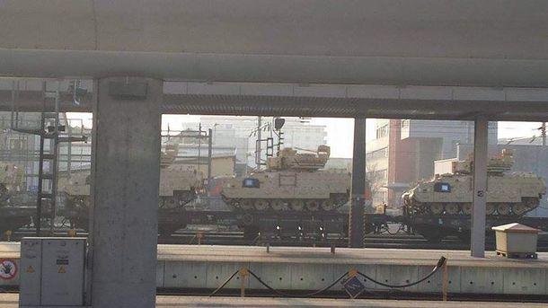 Американские танки в Австрии