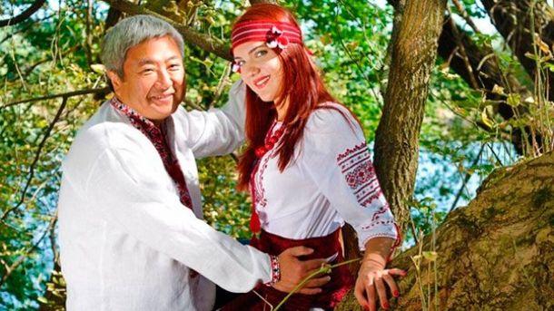 Олександр Сін з подругою Даною