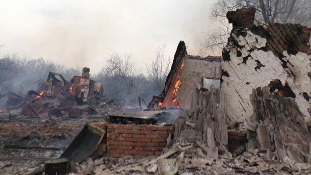 Сгоревшие здания