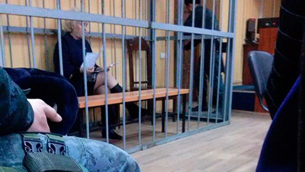 Неля Штепа на заседании суда