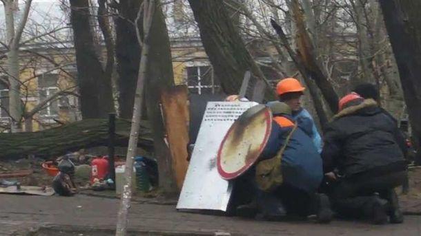 Майданівці на вул. Інститутській
