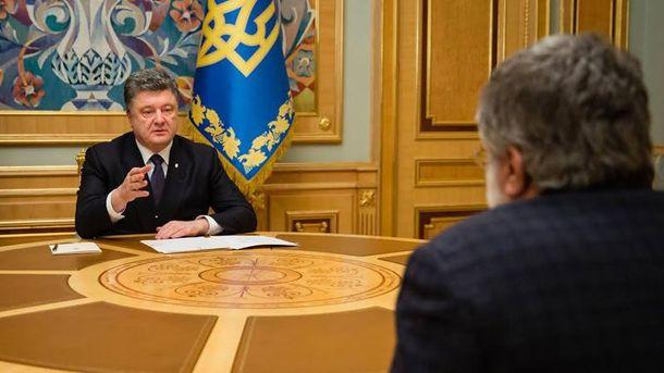 П. Порошенко и И. Коломойский