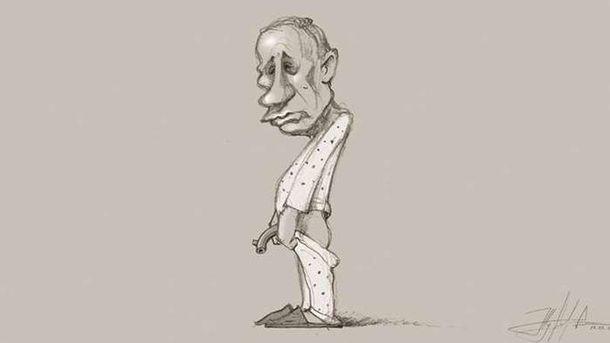 Карикатура на Владимира Путина