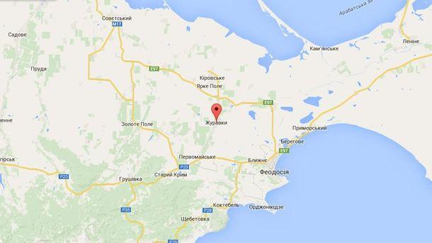 Село Журавки на мапі