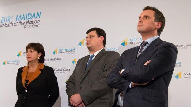Наталья Яресько, Александр Квиташвили и Айварас Абромавичус