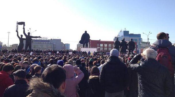 Мітинг у Новосибірську