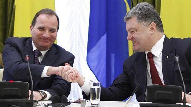 Стефан Левен і Петро Порошенко