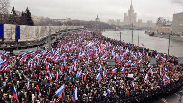 Траурний марш пам'яті Нємцова