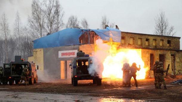 Навчання підрозділів внутрішніх військ МВС Росії