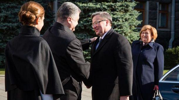 Петро Порошенко і Броніслав Коморовський