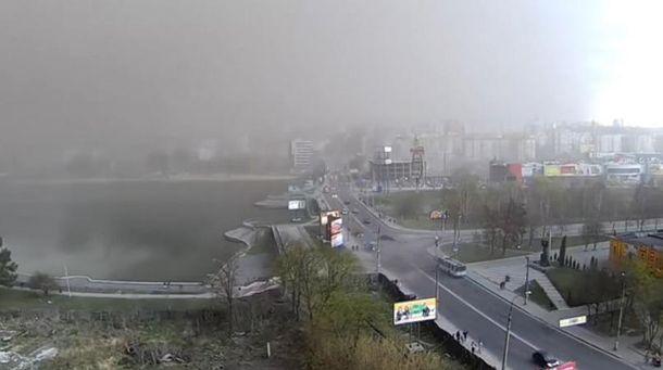 Піщана буря у Хмельницькому