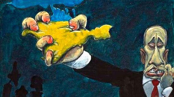 Карикатура про аннексию Крыма