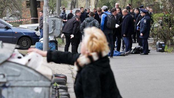 На месте убийства Олега Бузины