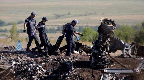 Место падения сбитого Boeing рейса МH17