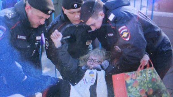 Задержание активистки