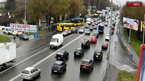 Місце ДТП в Києві