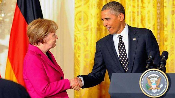 Ангела Меркель і Барак Обама