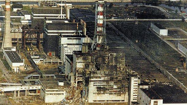 ЧАЭС после взрыва