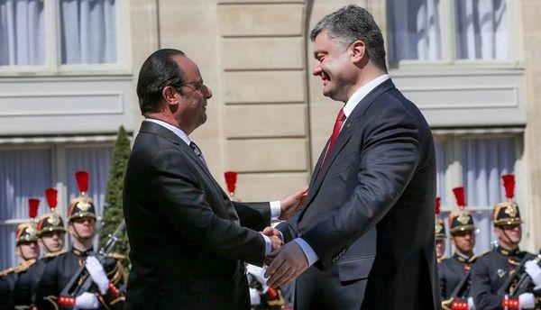 Франсуа Олланд и Петр Порошенко