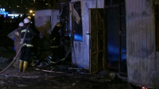 В Киеве столкновения на месте застройки