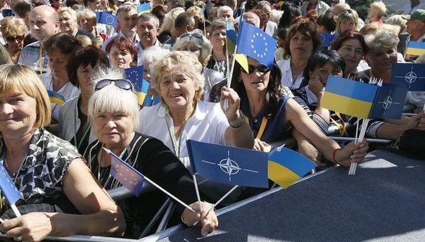 Украинцы на митинге