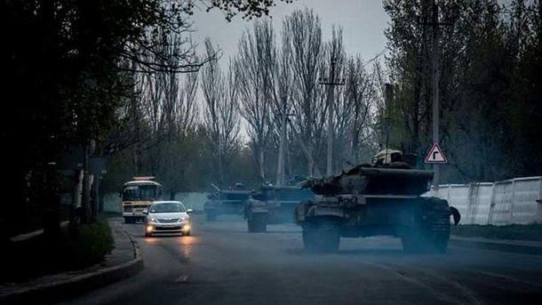 Танки в Донецьку