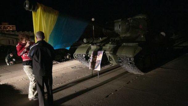 Танк з українським прапором