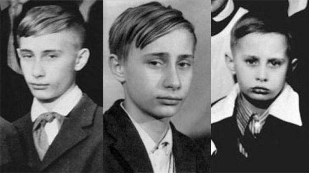 Володимир Путін у різні періоди життя