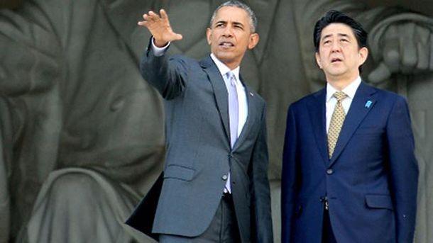 Барак Обама і Сіндзо Абе