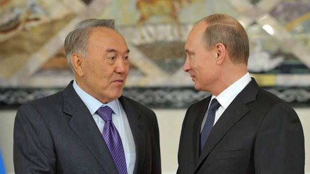 Нурсалтан Назарбаєв і Володимир Путін