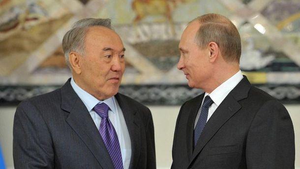 Нурсалтан Назарбаев и Владимир Путин