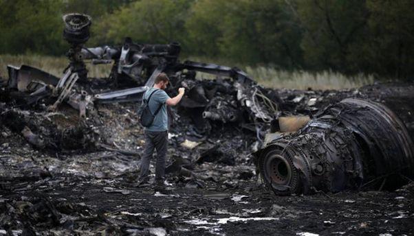 Обломки сбитого Boeing 777