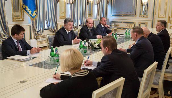 Встреча участников контактной группы с Порошенко