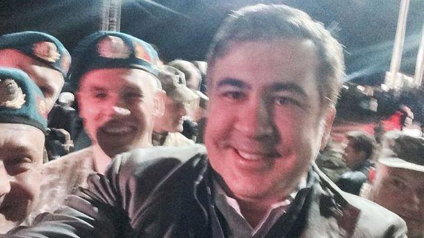 Михеил Саакашвили и десантники
