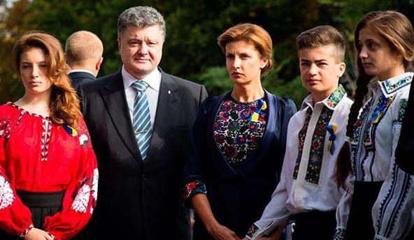 Петро Порошенко зі сім'єю