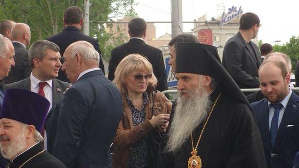 Святкування псевдореферендуму у Донецьку