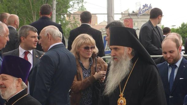 Празднование псевдореферендума в Донецке