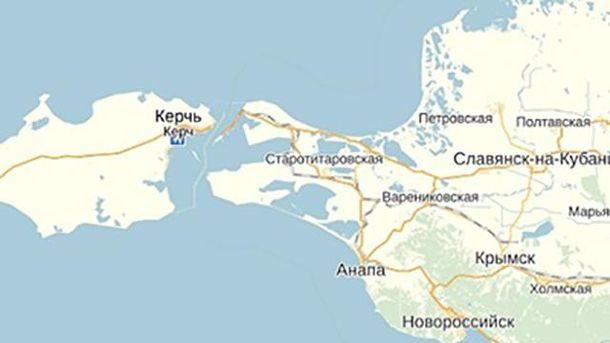 Мапа Керченської переправи