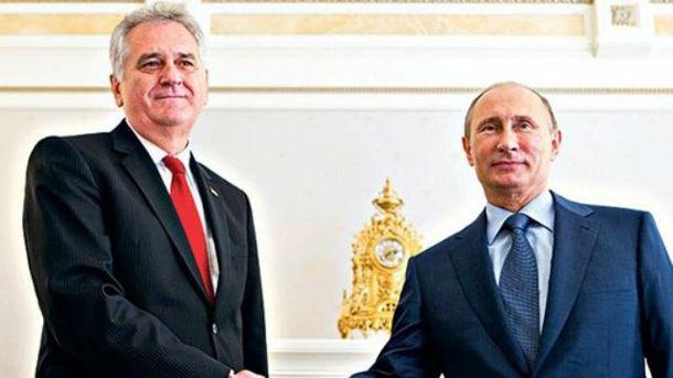 Томислав Николич и Владимир Путин