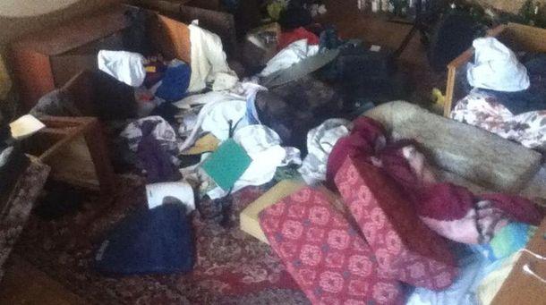 Квартира журналиста после погрома