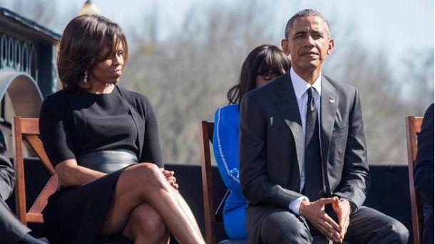 Барак Обама з дружиною