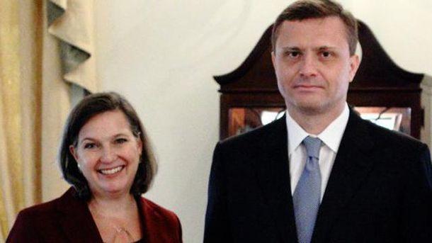 Вікторія Нуланд та Сергій Льовочкін