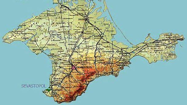 Мапа Криму