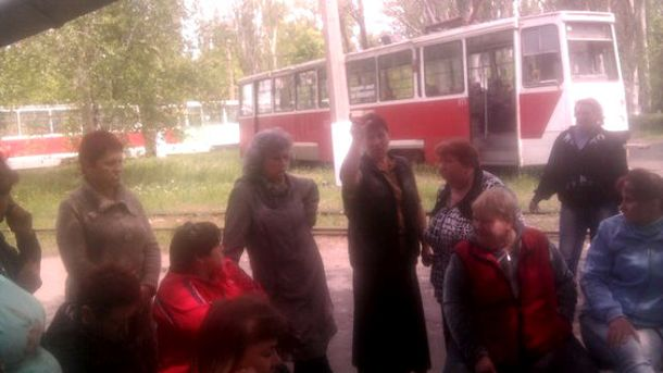 Забастовка в Енакиево