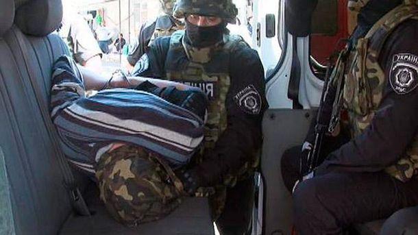 Задержание террориста в Одессе